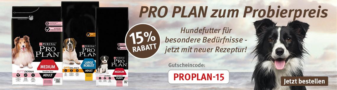 15% Rabatt auf PRO PLAN Hundefutter