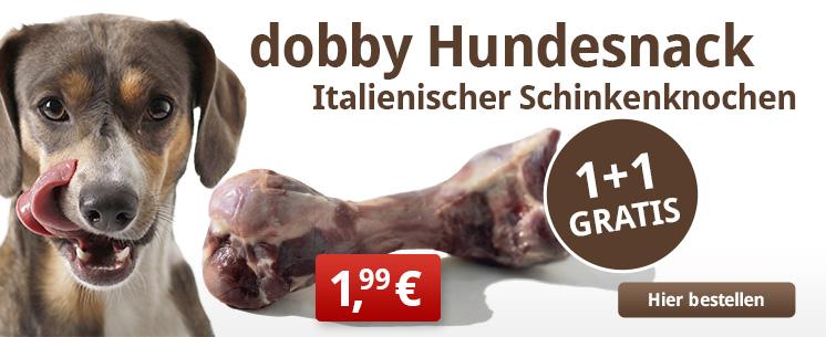 Jetzt einen dobby Hundesnack italienischen Schinkenknochen für 1,99 Euro kaufen und einen weiteren gratis erhalten.