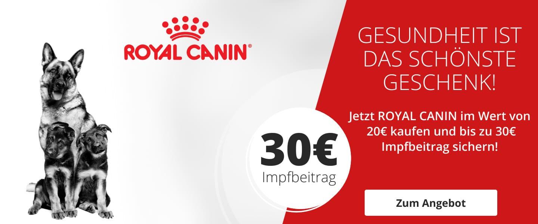Royal Canin Impfgutschein sichern