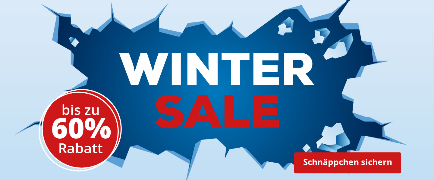 Winter Sale bis zu 60% Rabattt