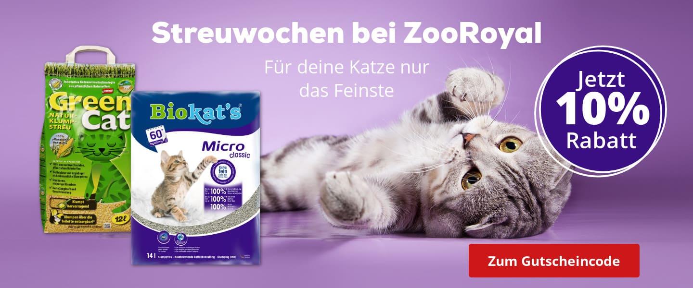 10% auf bereits reduzierte Katzenstreu