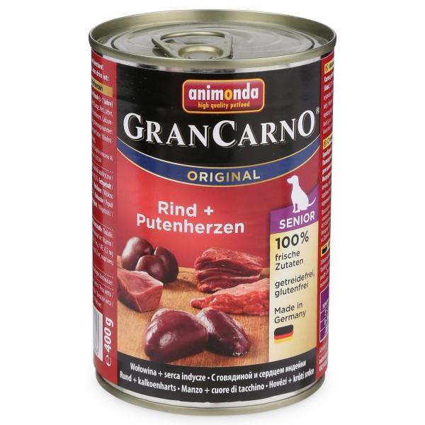 Animonda Hundefutter GranCarno Senior Rind und Putenherzen