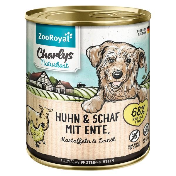 ZooRoyal Charlys Naturkost Huhn & Schaf mit Ente, Kartoffeln & Leinöl
