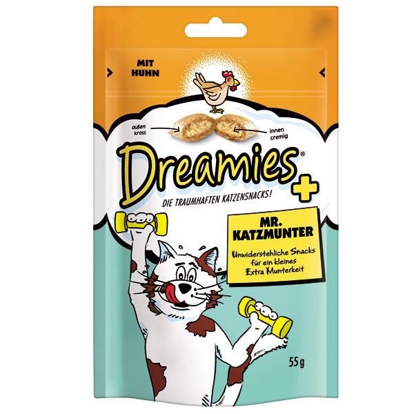 Dreamies Plus Katzensnack Mr. Katzmunter 55g