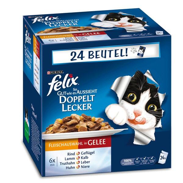 Felix So gut wie es aussieht Doppelt lecker Fleisch Mix 24x100g