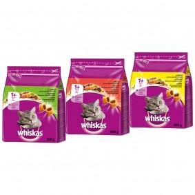 Whiskas 1+ Trockenfutter Mixpaket