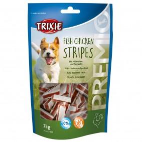Trixie Hundesnack PREMIO Stripes mit Hühnchen und Seelachs 75g