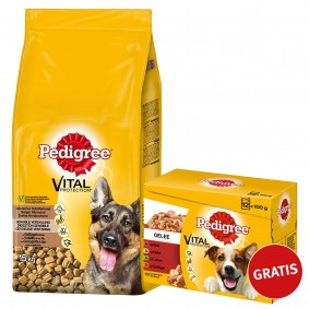 Pedigree Vital Deutscher Schäferhund 15kg plus Multipack Gelee 12x100g GRATIS