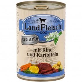 Landfleisch HundefutterDog Senior Rind und Kartoffeln