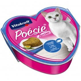 Vitakraft Katzenfutter Poésie Terrine mit Scholle und Eihülle 15x85g