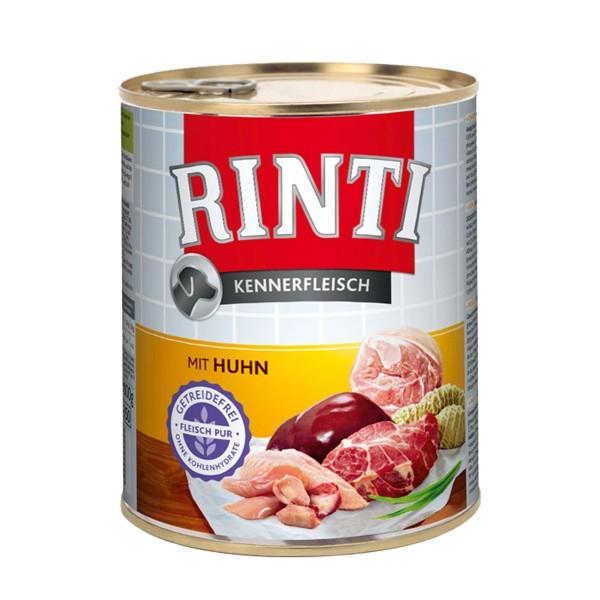 Rinti Nassfutter Kennerfleisch mit Huhn 800g