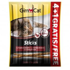 GimCat Sticks Truthahn + Hefe 4+1 gratis