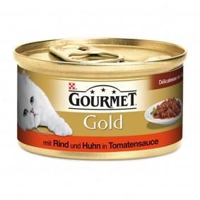 Gourmet Gold Délicatesse en Sauce Rind & Huhn