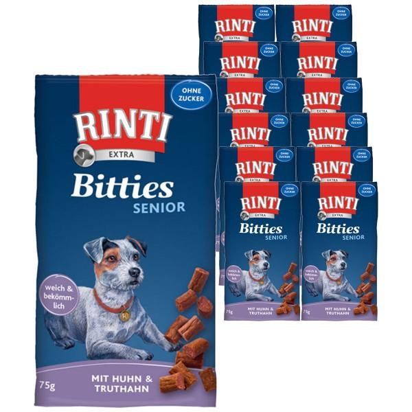 Rinti Extra Hundesnack Bitties Senior Huhn & Truthahn 12x75g