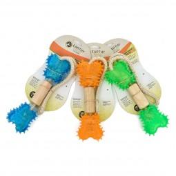 Earthy Pawz Hundespielzeug Knochen mit Gummi 7x5x46cm