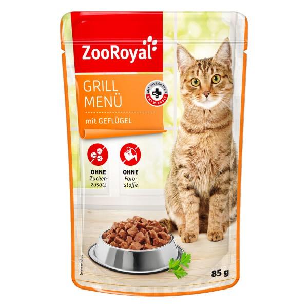 ZooRoyal Katzen-Nassfutter Grill Menü mit Geflügel