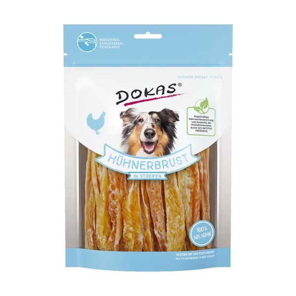 Dokas Hundesnack Hühnerbrust in Streifen