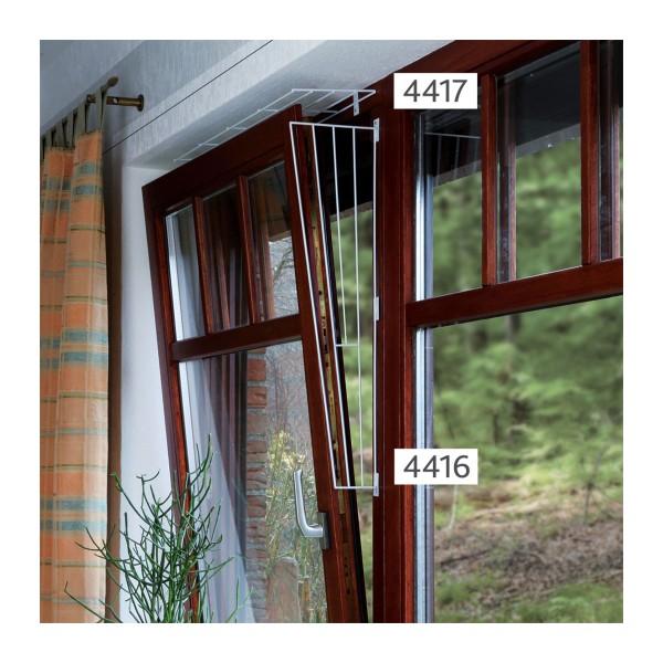 Trixie Kippfenster-Schutzgitter, schräg in weiß für eine Fensterseite