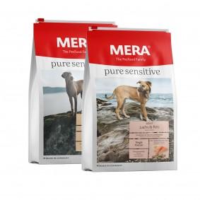 Sparpaket Meradog pure sensitive Truthahn & Reis / Lachs & Reis 2x12,5kg