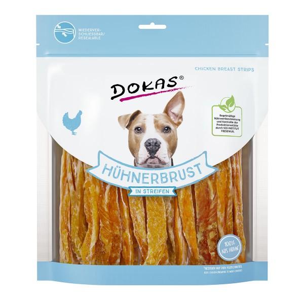 Dokas Hundesnack Hühnerbrust in Streifen - 500g