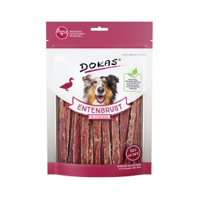 Dokas Hundesnack Entenbrust in Streifen