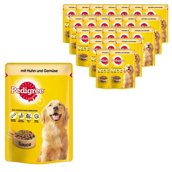 Pedigree Hundefutter mit Huhn und Gemüse in Sauce