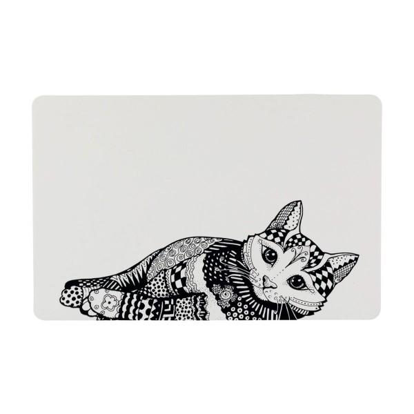 Trixie Napfunterlage Zentangle 44×28cm weiß/schwarz