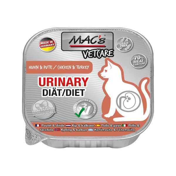 MAC's CAT Vetcare Urinary Huhn & Pute