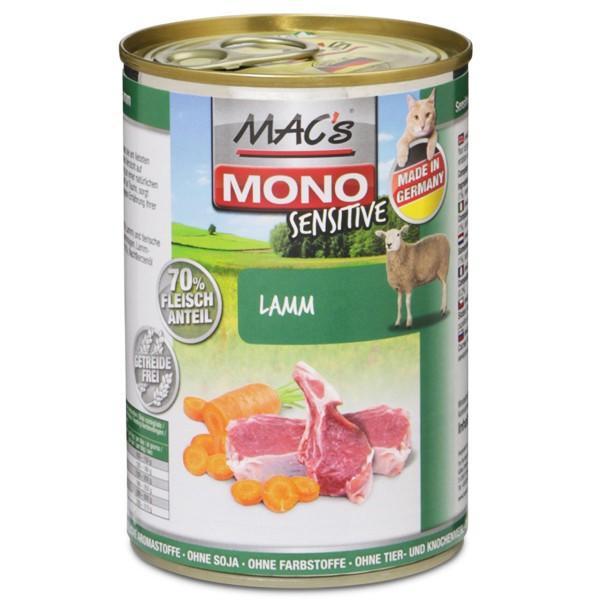 MAC's Cat Nassfutter Mono Sensitive Lamm