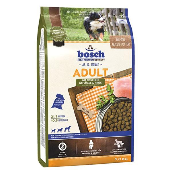 Bosch Hundefutter Adult Geflügel & Hirse - 3kg