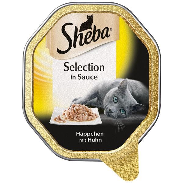 Sheba Katzenfutter Selection in Sauce Häppchen mit Huhn