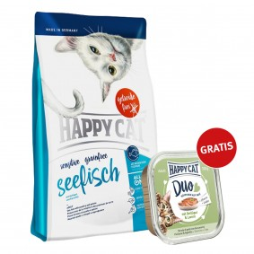 Happy Cat Sensitive Grainfree Seefisch 300g plus Paté Geflügel & Lamm 100g