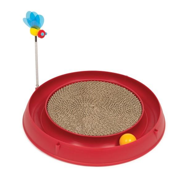 Catit Play 3in1 Circuit Ball Spielzeug mit Kratzmatte