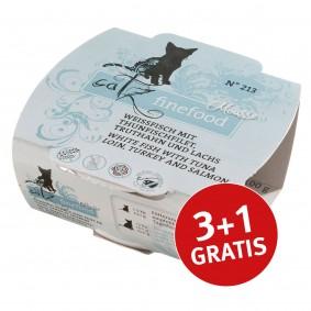 Catz finefood Mousse N°213 Thunfisch und Lachs 100g 3+1 gratis