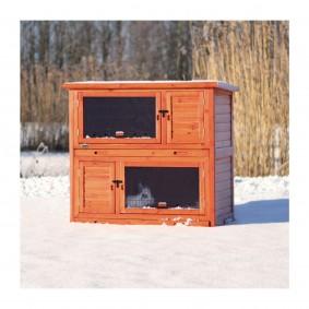 Trixie natura Kleintierstall mit Wärmedämmung 116x113x65cm