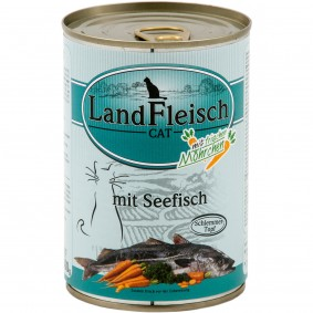 Laubsdorf Angebote Landfleisch Tiernahrung LFT GmbH Cat Schlemmertopf Seefisch - 12x400g