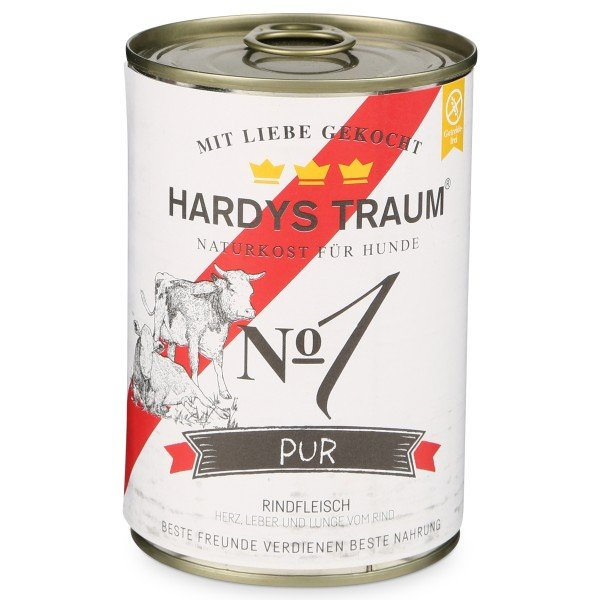 Hardys Traum Hundefutter Pur No. 1 Rind