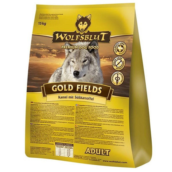 Wolfsblut Gold Fields Adult Kamel, Strauß & Süßkartoffel