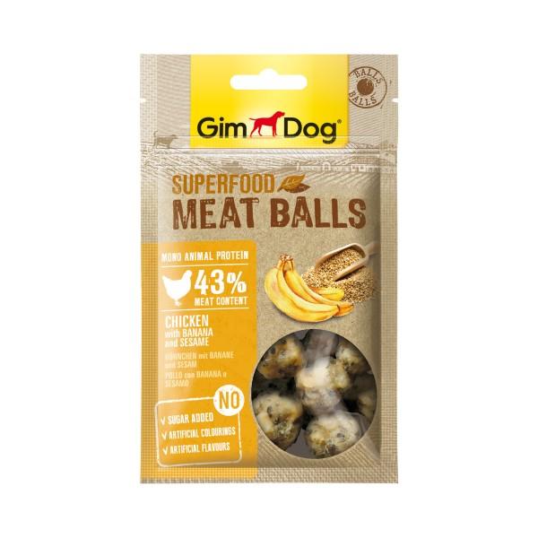 GimDog Superfood Meat Balls Huhn mit Banane und Sesam 70 g