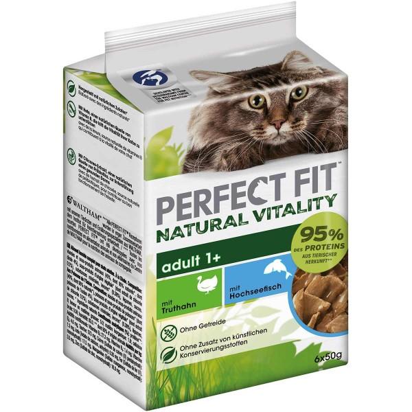 PERFECT FIT Katze Natural Vitality Adult 1+ mit Truthahn und Hochseefisch