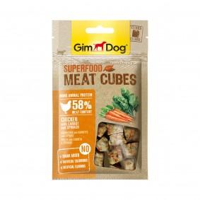 GimDog Superfood Meat Cubes Huhn mit Karotte und Spinat 40g