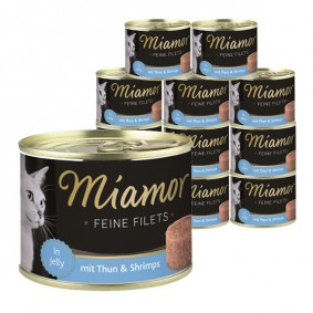 Miamor Feine Filets in Jelly Thunfisch & Shrimps 12x185g