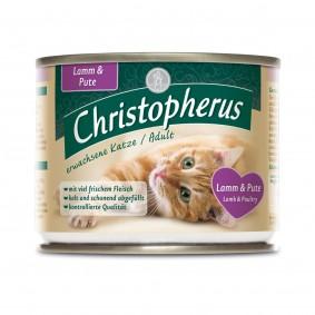 Christopherus Fleischmahlzeiten Katzenfutter Lamm und Pute 6x200g