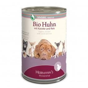 Herrmanns Bio Hundefutter Huhn mit Karotte und Reis 12x400g