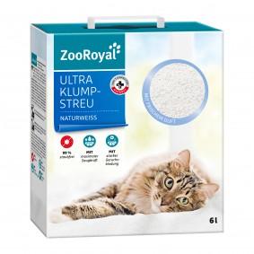 ZooRoyal Ultra hrudkující kočkolit s čerstvou vůní, přírodní bílá