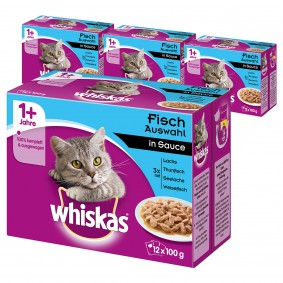 Whiskas Adult 1+ Fischauswahl in Sauce 48x100g