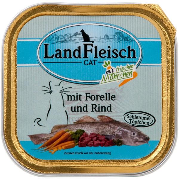 Landfleisch Cat Katzenfutter Schlemmertopf Forelle & Rind