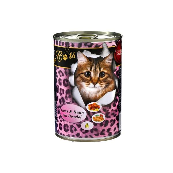 O'Canis Katzenfutter Gans, Huhn und Distelöl 400g