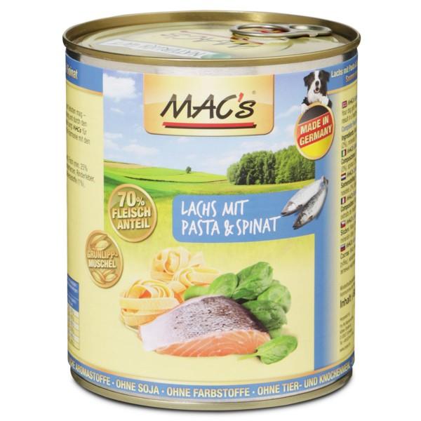 MAC's Dog Hunde-Nassfutter Lachs mit Pasta und Spinat