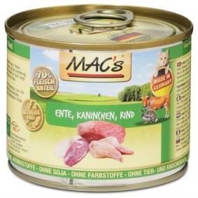 MAC's Cat Katzenfutter Fleischmenü Ente, Kaninchen & Rind
